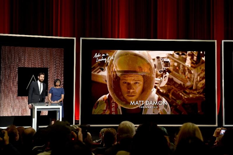 Matt Damon's character in 'The Martian' is stranded on the Red Planet with little else to eat than potatoes (AFP Photo/Kevin Winter)