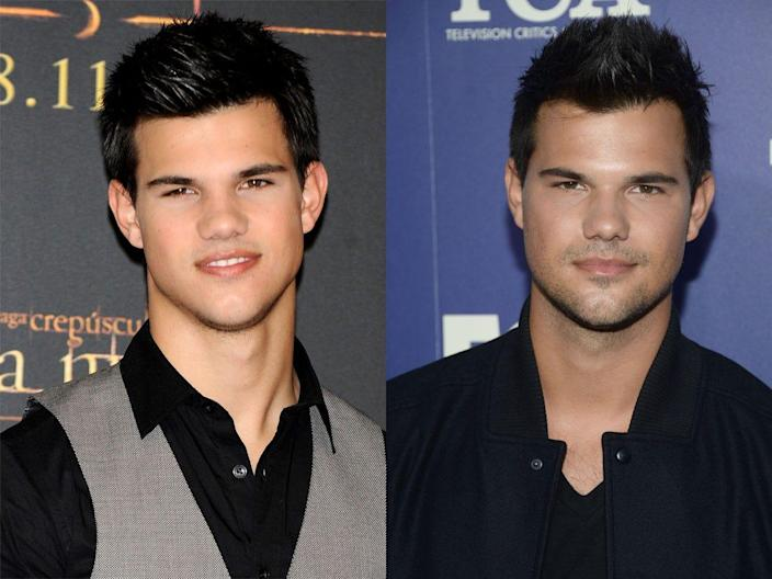taylor lautner twilight then and now