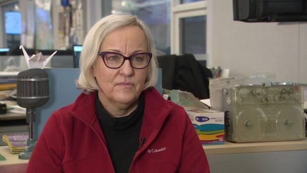 Laurel McCorriston,  executive director of Uquutaq Society, says the low-barrier shelter won't be expanded for the time being as it does not have enough funds to operate it.  (Travis Burke/CBC - image credit)