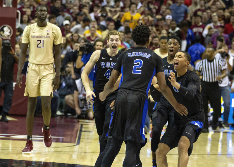 Duke Tops Florida State With Last-Second Cam Reddish Buzzer-Beater