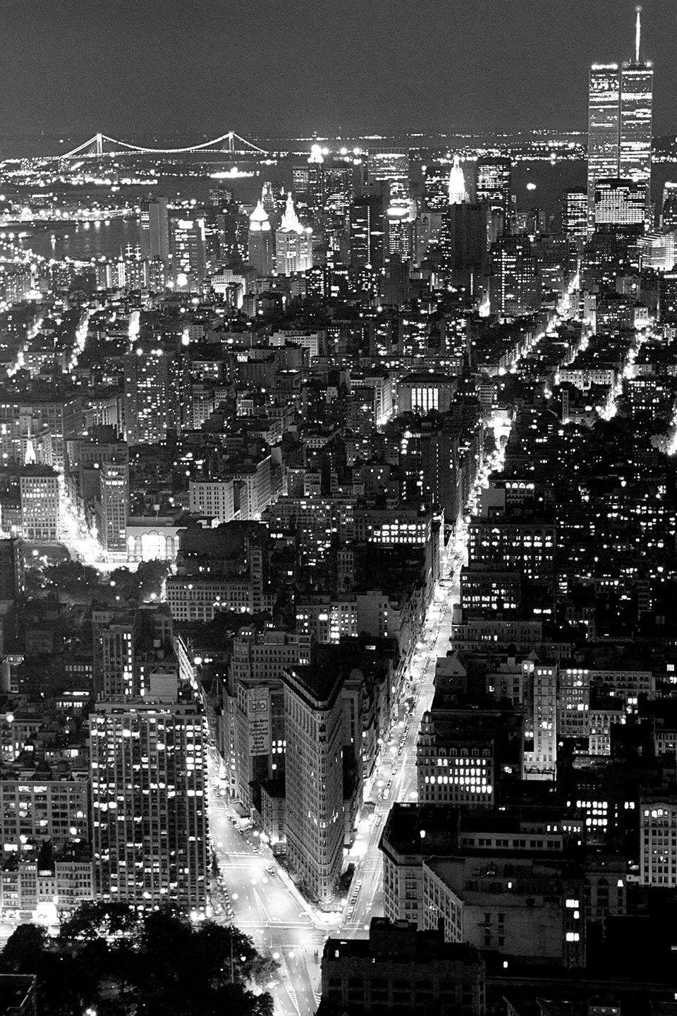 <p>Views of the New York skyline at night from atop the Empire State Building.</p>
