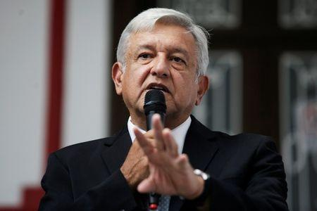 Mexico's President-elect Andres Manuel Lopez Obrador holds a news conference in Mexico City