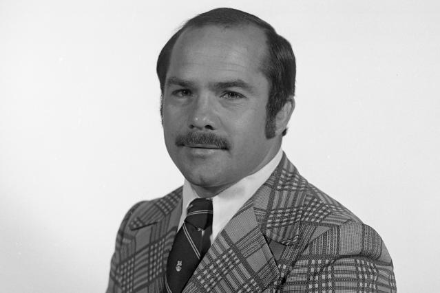 In this 1976 photo released by the Bentley Historical Library at the University of Michigan, former Michigan wrestling coach Bill Johannesen, who led the Wolverines' wrestling program from 1974-78, is shown in Ann Arbor, Mich. Johannesen denied he was told by any of his student-athletes that Dr. Robert E. Anderson, a University of Michigan doctor, touched them inappropriately. According to documents from a police investigation, University of Michigan officials were warned more than four decades ago that Anderson was fondling patients during medical exams, but he continued working there despite a demotion and went on to allegedly abuse again as a physician with the school's athletic department. (U-M Athletic Department records, Bentley Historical Library/University of Michigan via AP)
