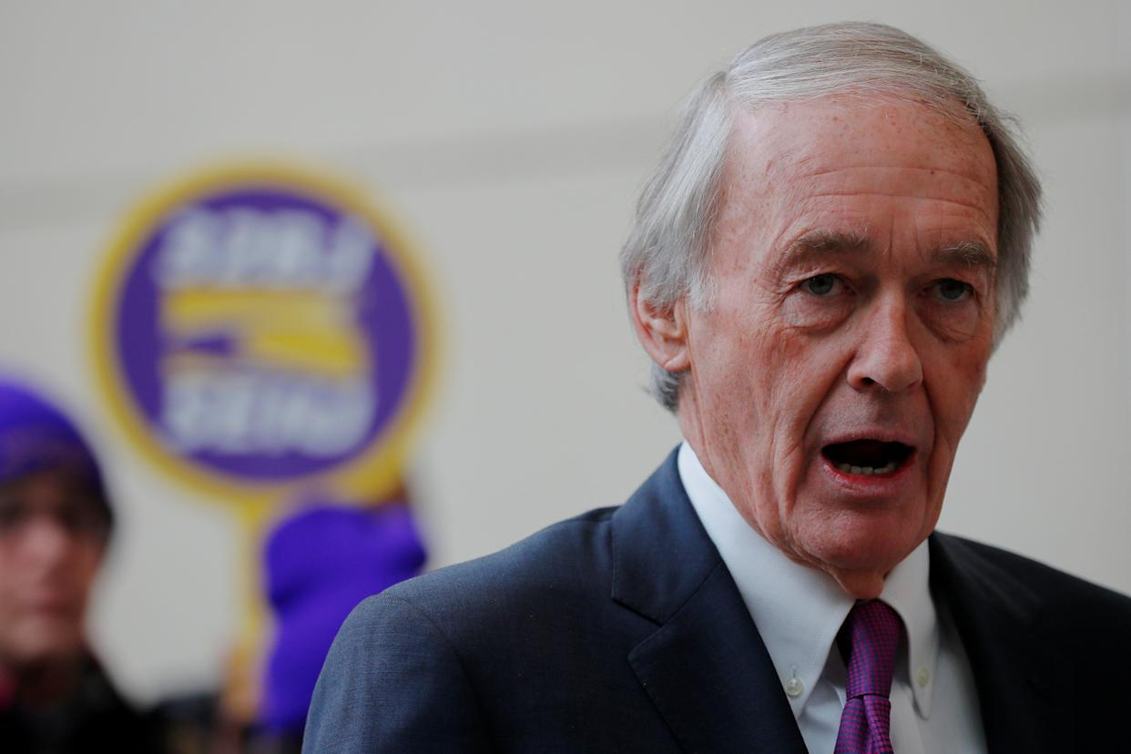Sen. Ed Markey (D-Mass.) was the co-sponsor of the Waxman-Markey cap-and-trade bill Democrats nearly passed a decade ago. Now he's spearheading the resolution effort with Ocasio-Cortez. (Reuters)