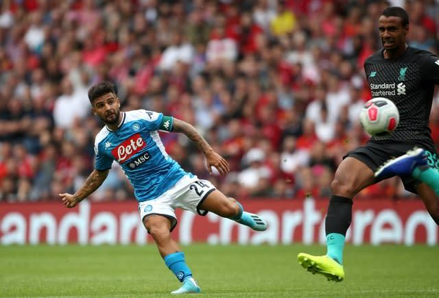 Liverpool will be familiar with Lorenzo Insigne's talents (Jane Barlow/PA)