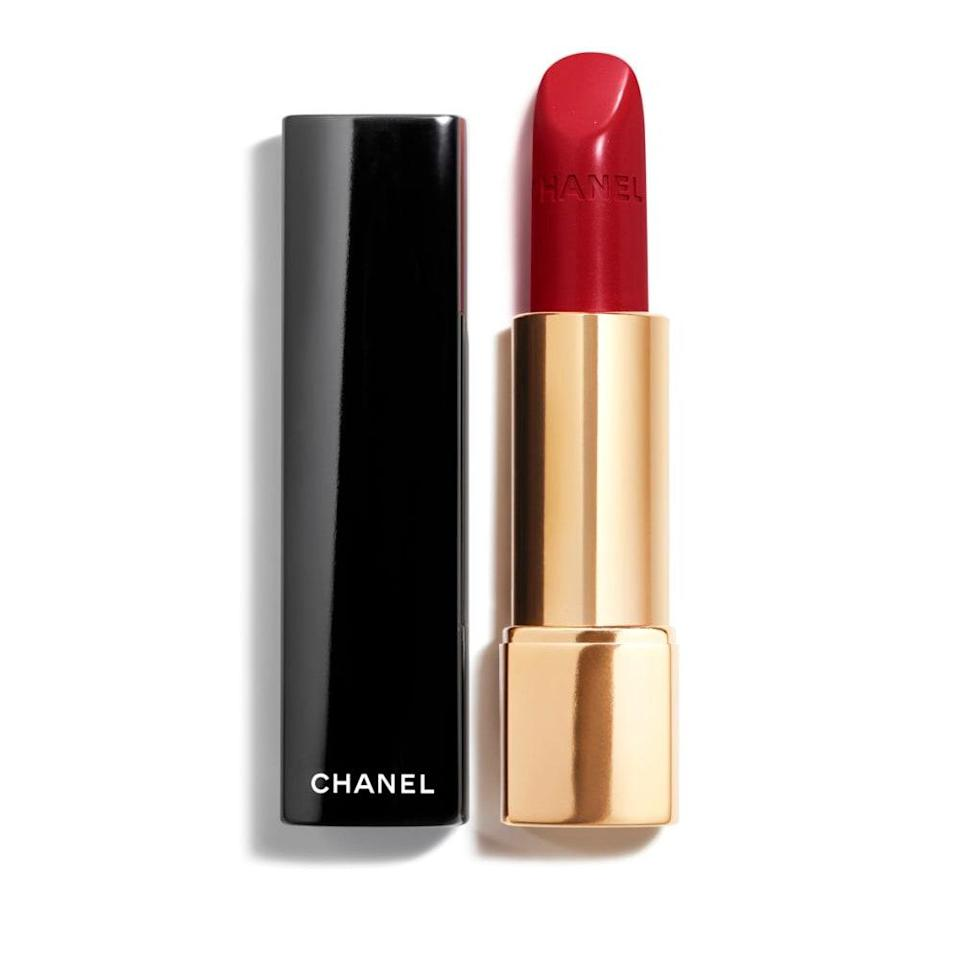 """<p>Anyone looking for a classic bright red can look to Pirate from Chanel's Rouge Allure Luminous Intense Lip Colour range. """"[It] was apparently formulated to imitate the same shade of red Coco Chanel wore,"""" notes Eldridge. """"It has a beautiful satin finish with a tiny touch of pearl for a luminous effect.""""</p> <p><strong>$38</strong> (<a href=""""https://shop-links.co/1720707745189494408"""" rel=""""nofollow noopener"""" target=""""_blank"""" data-ylk=""""slk:Shop Now"""" class=""""link rapid-noclick-resp"""">Shop Now</a>)</p>"""