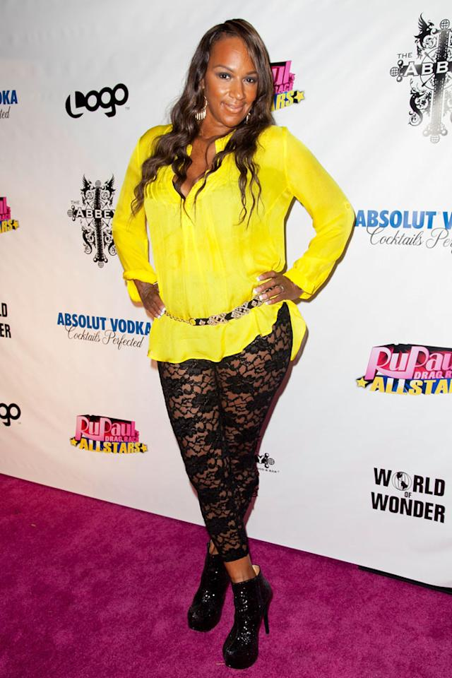 """Jackie Christie arrives at the """"RuPaul's Drag Race: All Stars"""" Premiere Party at The Abbey on October 16, 2012 in West Hollywood, California."""