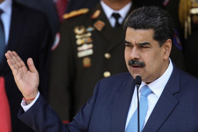 Venezuela's President Maduro holds a news conference at Miraflores Palace in Caracas