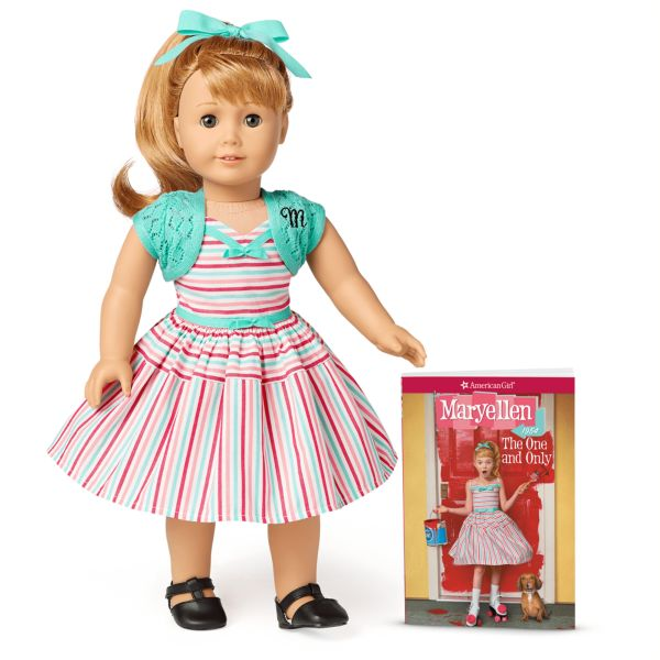 <p>Some of the BeForever dolls face some serious real-world hardships (e.g., homelessness, systemic racism, loss of a parent, war, etc., etc.), but Maryellen Larkin just has to deal with a heavy case of sibling rivalry in the 1950s. She is part of a large family and spends her time dreaming up TV show episodes where she gets to be the focus. Sorry not sorry, Maryellen!!</p>