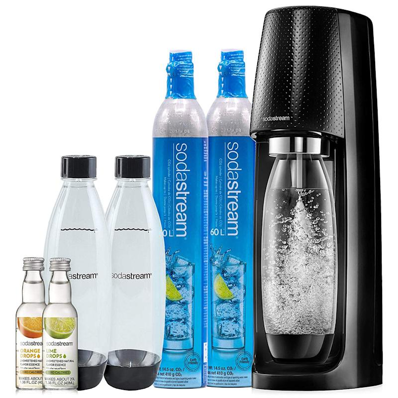 Instead of buying cases of LaCroix, make your own sparkling water with SodaStream. (Photo: Amazon)