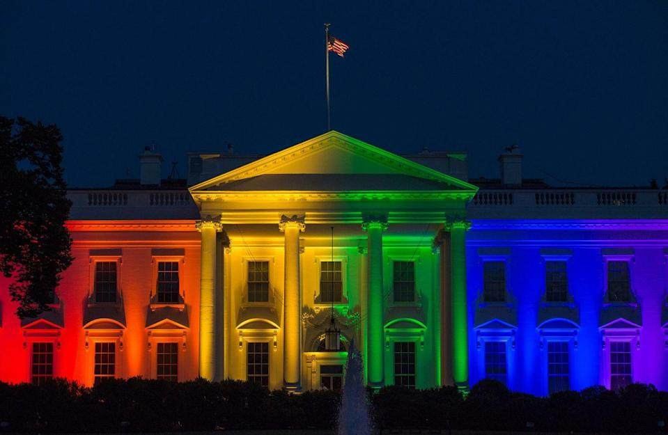 <p>On April 18, 2015, the Supreme Court hears arguments in <em>Obergefell v. Hodges</em>, a group of six cases challenging bans on same-sex marriage in Michigan, Ohio, Tennessee, and Kentucky.</p><p>On June 26, 2015, the Supreme Court legalized same-sex marriage across the United States. </p>