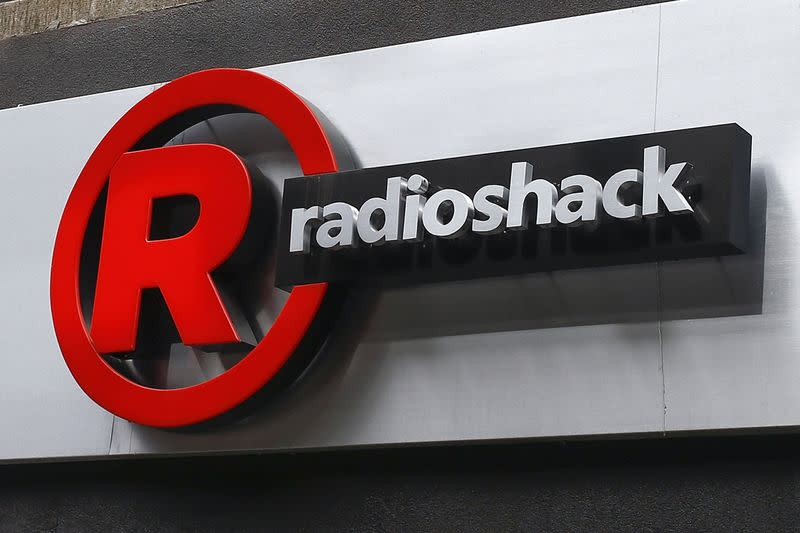 A sign for a RadioShack store is seen in the Brighton Beach section of New York