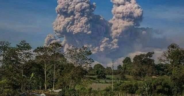 Monday's eruption was the second one since Saturday.