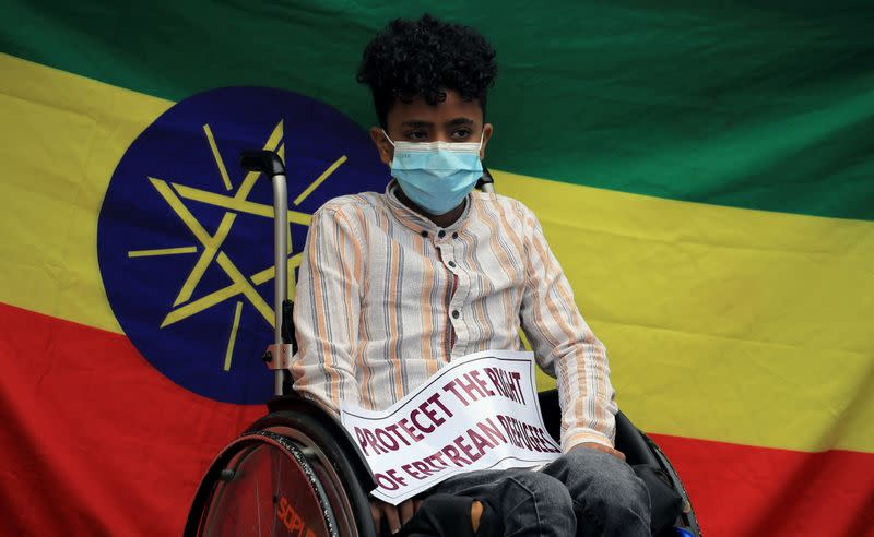 Eritrean refugees protest conditions at Tigray camps in Addis Ababa