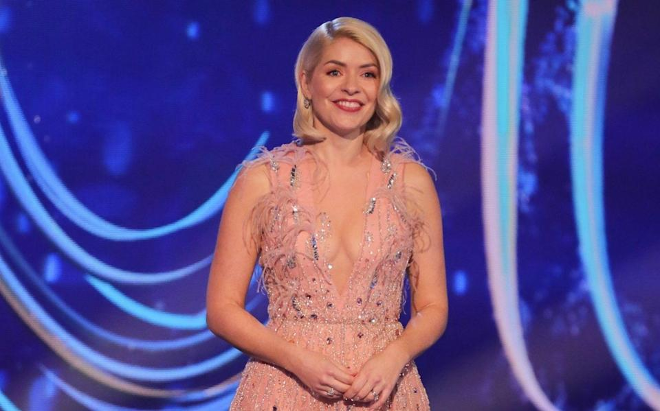 Holly Willoughby wearing a gown by Dany Atrache - ITV/ Shutterstock