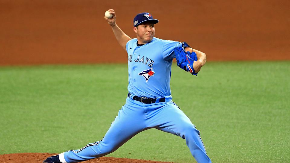 Nate Pearson should be a boost for the Blue Jays' bullpen. (Photo by Mike Ehrmann/Getty Images)