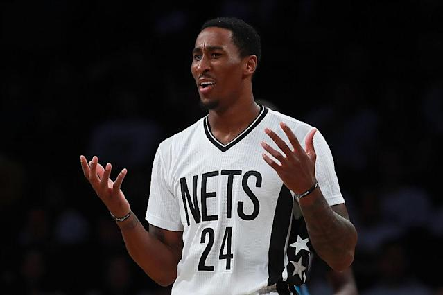 "Nets forward <a class=""link rapid-noclick-resp"" href=""/nba/players/5483/"" data-ylk=""slk:Rondae Hollis-Jefferson"">Rondae Hollis-Jefferson</a> is among the NBA's Muslim players who spoke out against President's Donald Trump's executive order. (Getty Images)"
