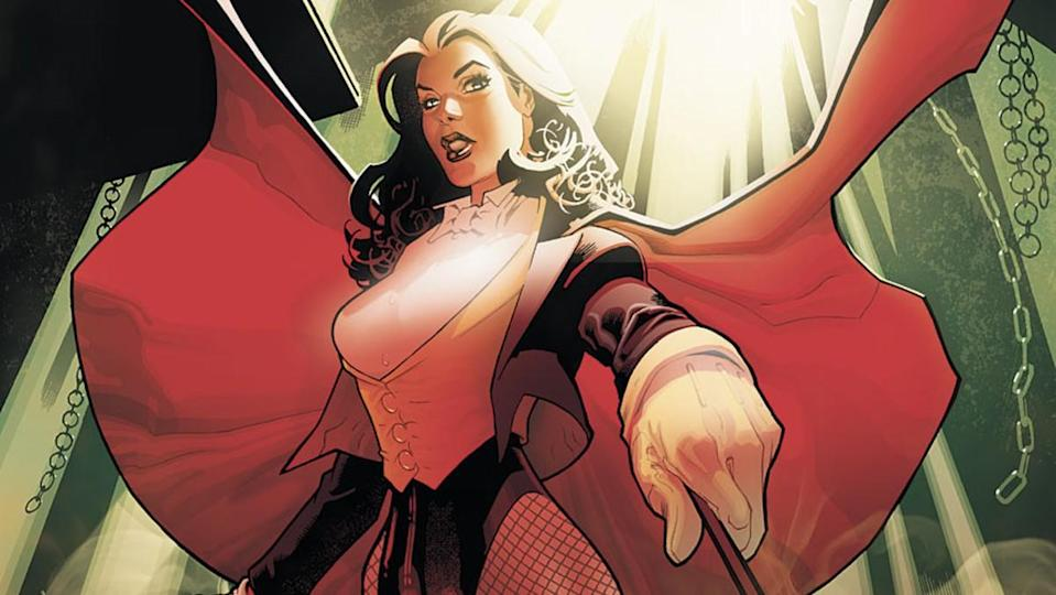DC Comics character Zatanna as she appears in New Earth.