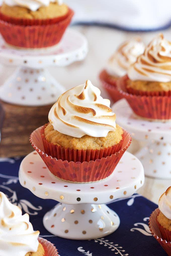 """<p>Whip up these light and airy cupcakes for an <a href=""""https://www.countryliving.com/food-drinks/g454/autumn-treats-1007/"""" rel=""""nofollow noopener"""" target=""""_blank"""" data-ylk=""""slk:easy fall sweet treat"""" class=""""link rapid-noclick-resp"""">easy fall sweet treat</a>. </p><p><strong>Get the recipe at <a href=""""https://thesuburbansoapbox.com/sweet-potato-cupcakes-marshmallow-meringue-frosting/"""" rel=""""nofollow noopener"""" target=""""_blank"""" data-ylk=""""slk:The Suburban Soapbox"""" class=""""link rapid-noclick-resp"""">The Suburban Soapbox</a>.</strong><br></p>"""