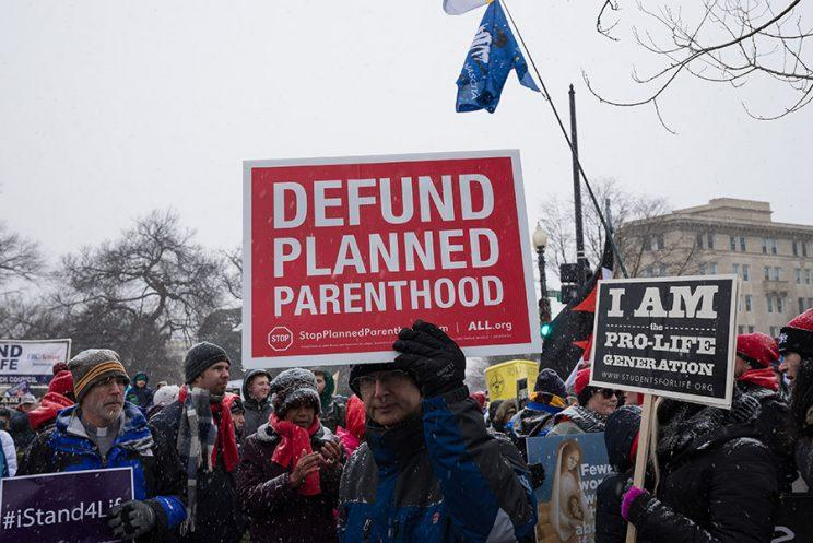 Pro-Life marchers participate in the