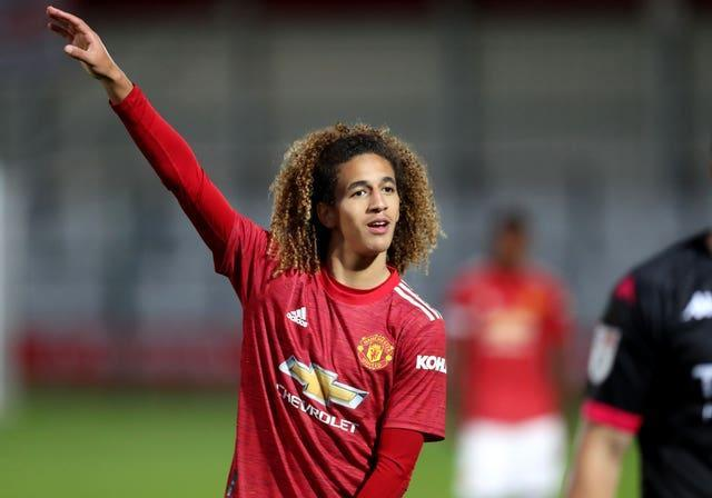 Hannibal Mejbri is pushing to make his first-team debut on Sunday