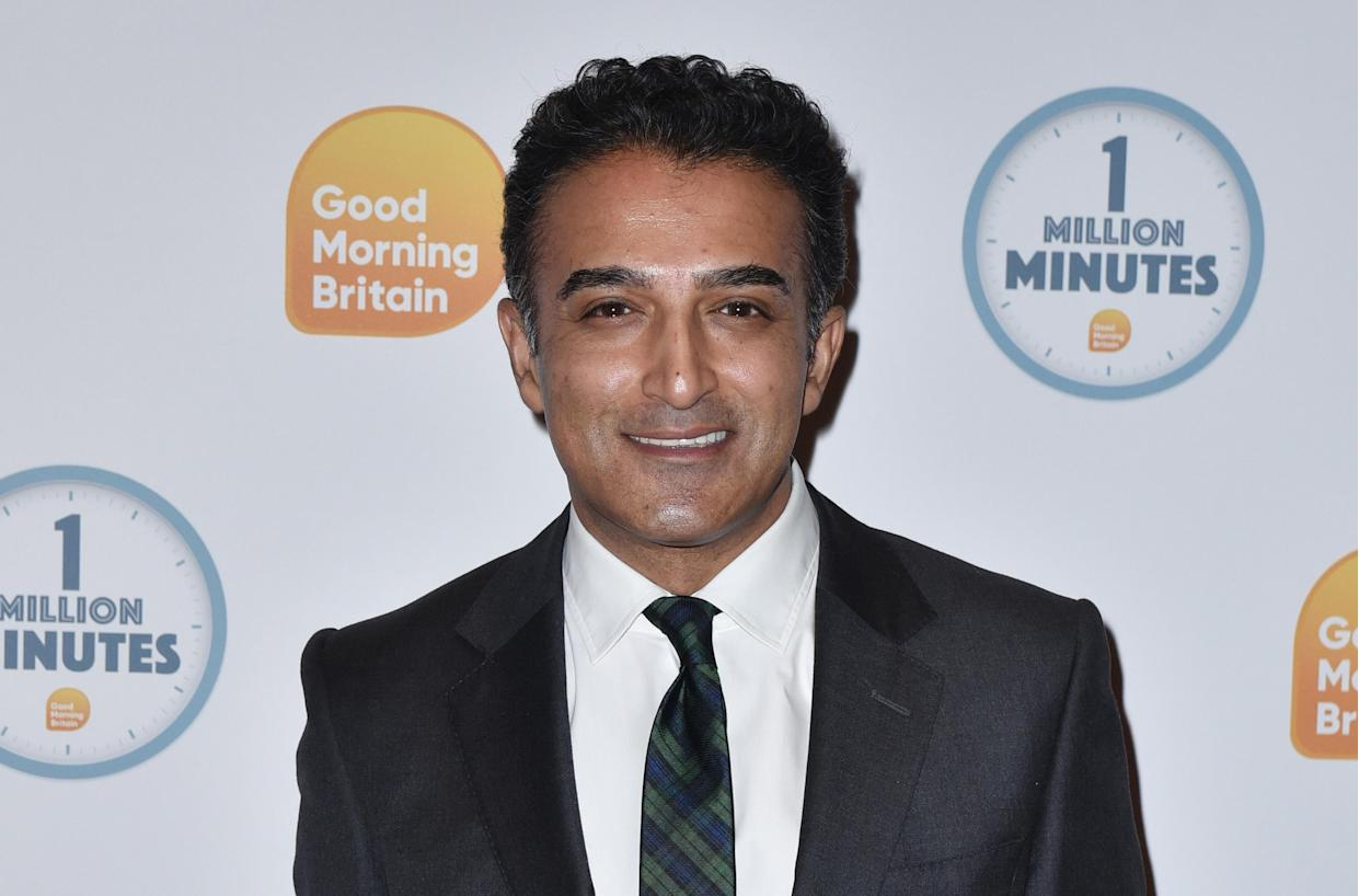 Adil Ray attends the Good Morning Britain 1 Million Minutes Awards at Television Centre in London. (Photo by James Warren / SOPA Images/Sipa USA)