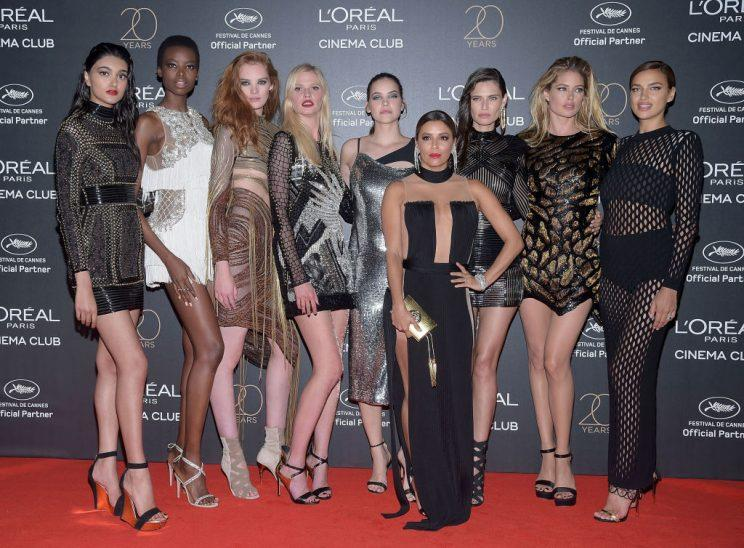 Eva Longoria joins the Balmain army in naked dress