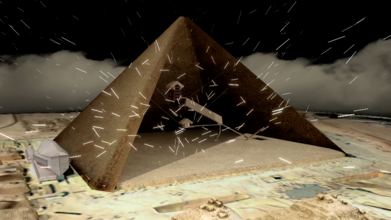 <strong>The void was discovered using cosmic particle detectors</strong> (Scan Pyramids Mission)