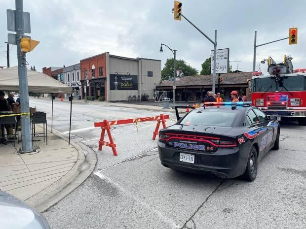 A gas leak was reported in downtown Wheatley on Wednesday (Muncipality of Chatham-Kent - image credit)