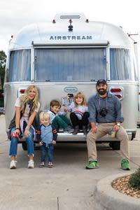 Pictured left to right: Ellie, Rivers, Huck, Emmylou and Drew Holcomb.   Photo Credit: Katie Kauss