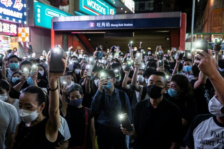 Protesters on June 12 marked the one-year anniversary of major clashes between police and pro-democracy demonstrators
