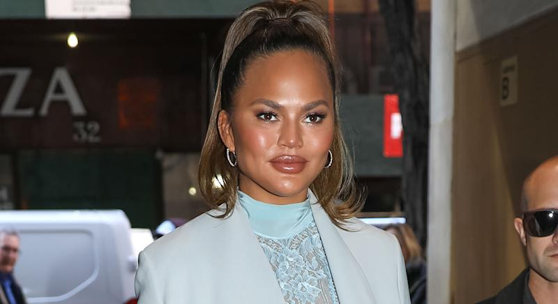 Chrissy Teigen reveals her beauty and skincare secrets to achieving clear and glowing skin. (Getty Images)