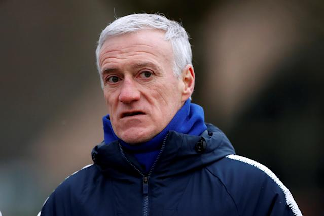 Soccer Football - France Training - Clairefontaine, France - March 19, 2018 France coach Didier Deschamps during training REUTERS/Gonzalo Fuentes