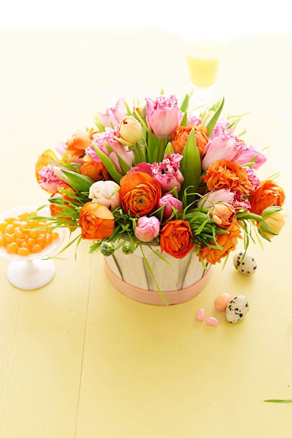 """<p>Opt for a whitewashed peck basket if you want your colorful flowers to pop and steal all the attention on your table. </p><p><em><a href=""""http://www.goodhousekeeping.com/holidays/easter-ideas/g1906/easter-flowers/?slide=12"""" rel=""""nofollow noopener"""" target=""""_blank"""" data-ylk=""""slk:See more at Good Housekeeping »"""" class=""""link rapid-noclick-resp"""">See more at Good Housekeeping »</a></em></p><p><strong><em> Midoshark Rattan Vase, $36</em></strong> <a class=""""link rapid-noclick-resp"""" href=""""https://www.amazon.com/Midoshark-Hand-Woven-Rattan-Tabletop-Decorative/dp/B08SKZF9TH/ref=sr_1_16?tag=syn-yahoo-20&ascsubtag=%5Bartid%7C10057.g.19409803%5Bsrc%7Cyahoo-us"""" rel=""""nofollow noopener"""" target=""""_blank"""" data-ylk=""""slk:BUY NOW"""">BUY NOW</a></p>"""