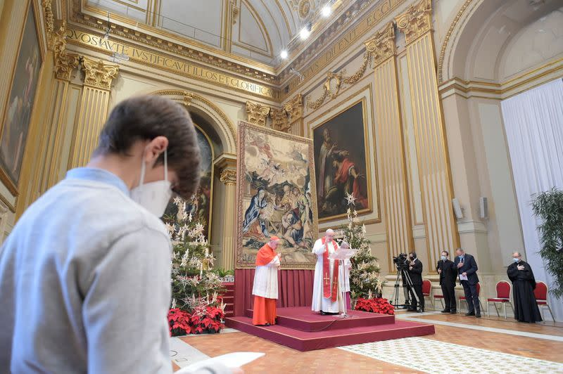 Pope Francis delivers his traditional Christmas Day Urbi et Orbi speech at the Vatican