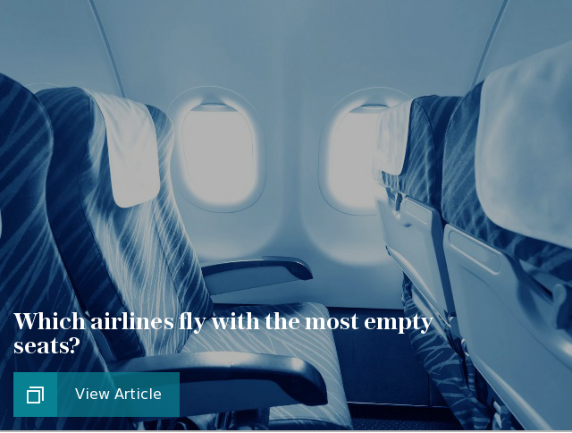 Which airlines fly with the most empty seats?