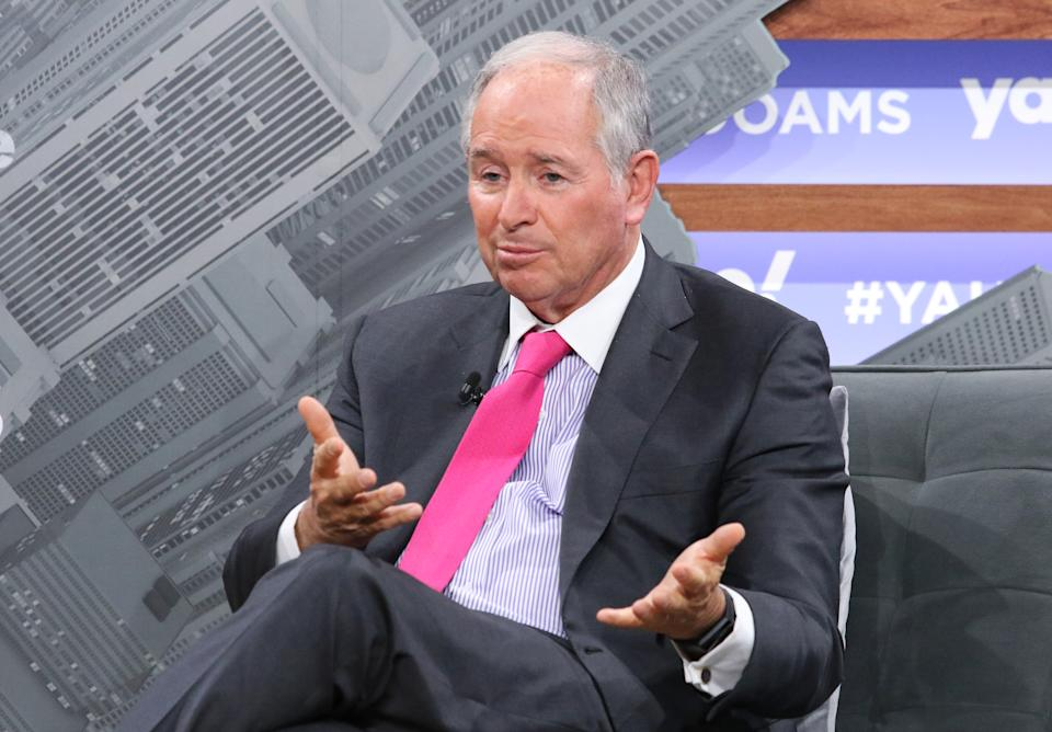 NEW YORK, NEW YORK - OCTOBER 10: CEO of the Blackstone Group Stephen Schwarzman attends the Yahoo Finance All Markets Summit at Union West Events on October 10, 2019 in New York City. (Photo by Jim Spellman/Getty Images)