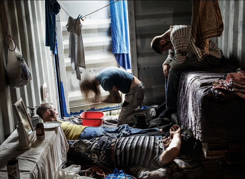 Construction workers in an image from the Invisible People series commissioned by the National Crime Agency: Rory Carnegie