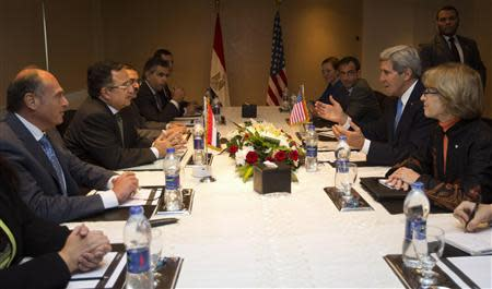 U.S. Secretary of State Kerry meets with Egypt's Foreign Minister Fahmy in Cairo