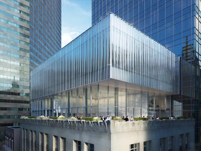 """<div class=""""caption""""> The redesign and expansion will feature more space for what OMA describes as """"a public dimension."""" </div>"""