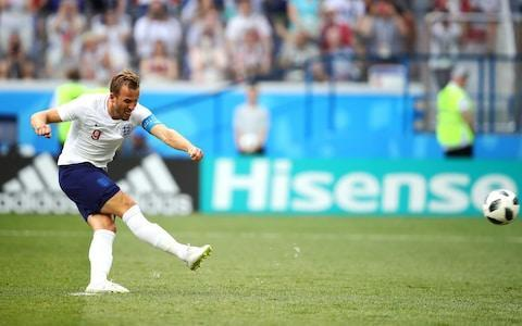 <span>Harry Kane scored his third, fourth and fifth goals of the tournament against Panama as England hammered the Central Americans 6-1</span> <span>Credit: UPI </span>