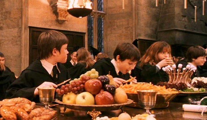 Image result for great hall hogwarts food