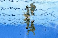 All 12 members of the Greek artistic swimming team have entered isolation after five tested positive for coronavirus