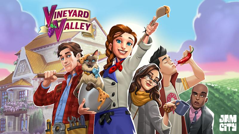 'Vineyard Valley' is a renovation-themed game from Jam City, in collaboration with celebrity designer Genevieve Gorder