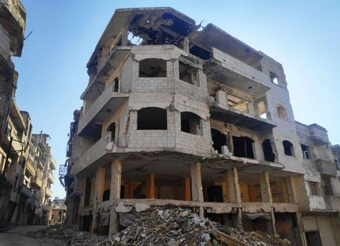 """<span class=""""caption"""">The city of Homs has been ravaged by war, leaving millions of people homeless and displaced. </span> <span class=""""attribution""""><span class=""""source"""">Abduljalil Achraf</span>, <span class=""""license"""">Author provided</span></span>"""