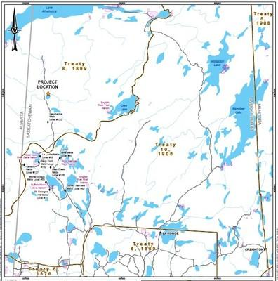 Map 1: Rook I Project location and communities (CNW Group/NexGen Energy Ltd.)