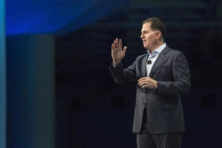 Dell, chief executive of Dell Inc, delivers his keynote speech at the All Things Oracle OpenWorld Summit in San Francisco, California