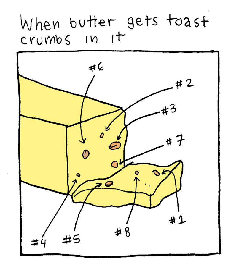 Only annoying when you use butter for all those non-toast foods.