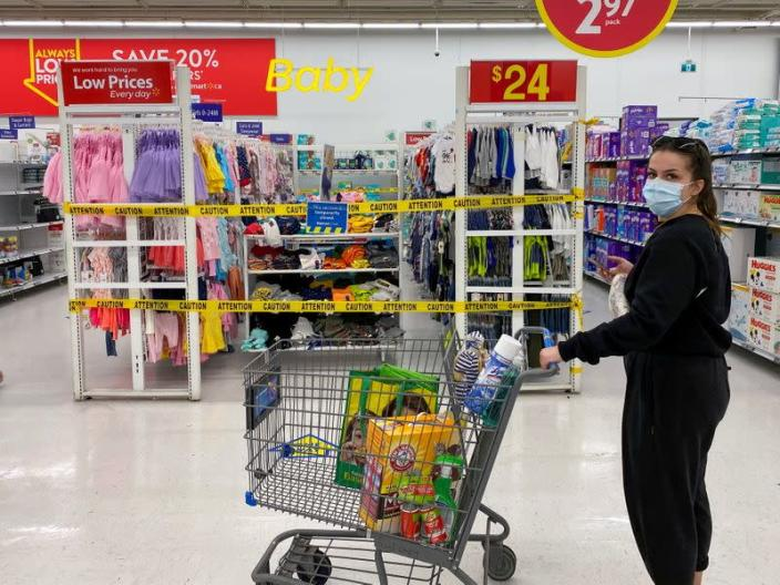 FILE PHOTO: New measures imposed on big box stores amid COVID-19 pandemic, in Toronto