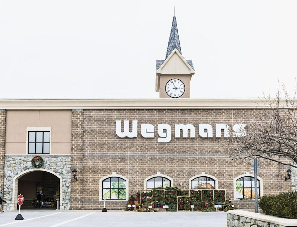 """<p>The reason so many people apply to Wegmans is simple: they have a terrific work culture and wonderful employee benefits and perks. Syracuse.com says that the company has given out nearly $100 million in scholarships to over 30,000 workers since 1984. The chain usually tops the list of the <a href=""""https://www.forbes.com/sites/clareoconnor/2015/03/25/americas-best-employers-2015/#22228dd030b0"""" rel=""""nofollow noopener"""" target=""""_blank"""" data-ylk=""""slk:best places to work in the United States"""" class=""""link rapid-noclick-resp"""">best places to work in the United States</a> because of the way they treat their employees, and it shows in their stellar customer service. <br></p>"""